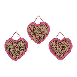 Sweet Jojo Designs - Pink Cheetah Wall Decor (Set of 3) - The Pink Cheetah Wall Decor (Set of 3) includes 3 wall hangings that will add a designer's touch to any child's room! These children's wall hangings will complete the look of your child's room.