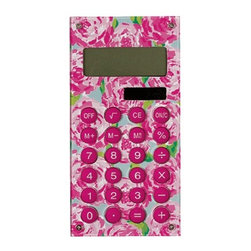 Lilly Pulitzer - Lilly Pulitzer Calculator, First Impression - Our Lilly Pulitzer Calculator, First Impression are Cute + Pink + Fun = Fabulous. You do the math! This Lilly Pulitzer Calculator in First Impression is sure to brighten up that dull math class and make it fun. Adding up receipts or filing taxes will also be more enjoyable with this designer calculator!