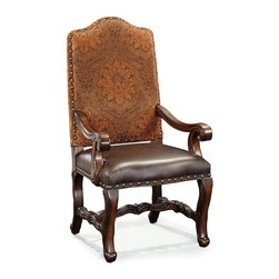 Ambella Home - New Ambella Home Small Arm Chair Leather Arm - Product Details