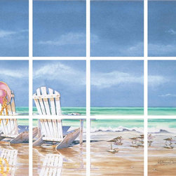 IdeaStix - Calm before the Storm 12-Piece Mural IdeaStix Peel and Stick - IdeaStix Mural transforms an ordinary tiles and such into beautiful art decorations.  Made from proprietary rubber-resin, 12-Piece Mural Premium Peel and Stick Tile Decor is sized for 4.5 x 4.5 inch tiles and offers a quick and easy solution of having a great Tile Mural in kitchen or bath/shower.  With water/heat/steam-resistant, nontoxic, washable, removable and reusable features, it is ideal for kitchen backsplash and bath/shower tile cecoration and suitable for smooth and non-porous tile surfaces in hot, wet and humid areas.  Surface can be washed with most household cleaning products.