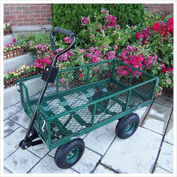 Oakland Living - Oakland Living Utility Metal Garden Cart with 500 lb Capacity in Green - Oakland Living - Garden Power - 90014GN - About this product: