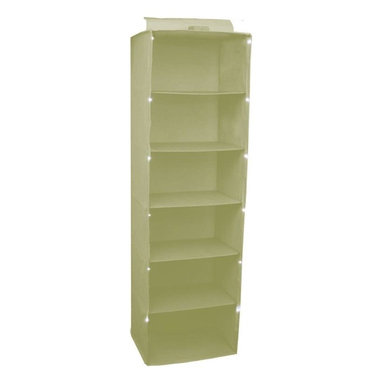 Trademark Global - 17 in. Lighted Hanging Closet Organizer Shelf - Hook and Loop Fasteners. Open Knit Backing for Ventilation. Built in LED Lighting (4x AA batteries not included). Collapsible for Easy Storage. 14 in. L x 17 in. W x 60 in. H (7 lbs.)Trademark Home 17 in. Organizer maximizes space while illuminating dark closets. This linen color organizer has six shelves designed to hold sweatshirts and blankets, but can also accommodate jackets and other large items. The built in LED lighting system is powered by four AA batteries and features an on/off switch, providing light for each individual shelf. The 17 inch organizer features reinforced support panels, open knit backing for ventilation and hook and loop fastener straps for hanging. The organizer is collapsible and folds up conveniently for storing. Folding baskets for the organizer can be purchased separately in matching colors.
