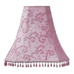 Jubilee Collection - Large Shade - Starburst - Pink - Material: silk, metal. 5 x 12 x 11 in.