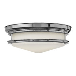 Hinkley Lighting - Hinkley Lighting 3304CM Hinkley Lighting 3304OZ Oil Rubbed Bronze 4 Light Indoor - Hinkley Lighting 330 Hadley Flush Mount Ceiling Light The Hadley is a retro-styled flush mount collection. The etched opal one piece glass shade features
