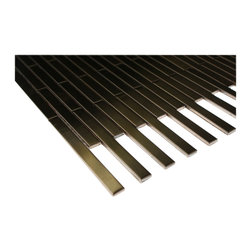 Sample - Metal Copper Stainless Steel 3/8x4 Stick Brick Tiles Sample - sample-METAL COPPER STAINLESS STEEL 3/8X4 STICK BRICK TILES 1/4 SHEET SAMPLE  SAMPLE   Samples are intended for color comparison purposes, not installation purposes.-Glass Tiles -