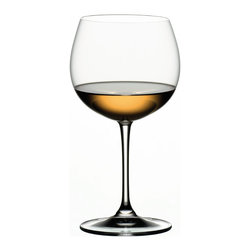 Riedel - Riedel Vinum Oaked Chardonnay, set of 2 - Don't just pour your oaked chardonnay — indulge in it. This lead crystal stemware (sold as a pair) enhances the look of your table and your pleasure in the wine.