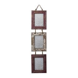 Sterling Industries - Sterling Industries 128-1026 Set Of 3 Picture Frames w/ Natural Rope Hanger - Picture Frame (1)