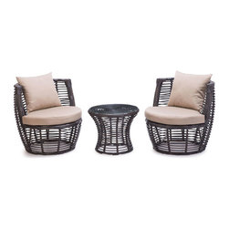 Great Contemporary Outdoor Furniture - Style and function come together in the Stanley patio stacking set.