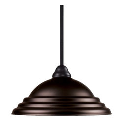 Z-Lite - Z-Lite Riviera Pendant Light X-ZRBS-ZRB-PM4112 - Elegant and traditional best describes this beautiful mini pendant fixture. Finished in bronze and paired with a bronze shade, this one light fixture would be equally at home in the game room, or anywhere else in the house needing a touch of timeless charm. Adjustable rods are included to ensure a perfect hanging height.