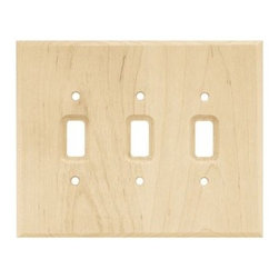 Liberty Hardware - Liberty Hardware 126796 Wood Square WP Collection 5.67 Inch Switch Plate - A simple change can make a huge impact on the look and feel of any room. Change out your old wall plates and give any room a brand new feel. Experience the look of a quality Liberty Hardware wall plate. Width - 5.67 Inch, Height - 7.1 Inch, Projection - 0.3 Inch, Finish - Unfinished Wood, Weight - 0.17 Lbs.