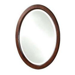 Pegasus - Pegasus Ellisepe 22 in. L x 28 in. W Wall Mirror, Walnut (PEF10AE6014M) - Pegasus PEF10AE6014M ELLIPSE 22 in. L x 28 in. W Wall Mirror, Walnut