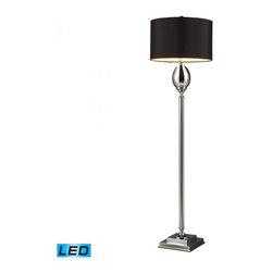 Dimond - One Light Chrome Plated Glass Floor Lamp - One Light Chrome Plated Glass Floor Lamp