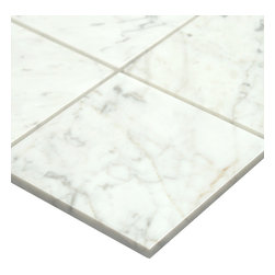 All Marble Tiles - Bianco Carrara 6x6 Polished Kitchen and Bathroom Marble Tile - The Bianco Carrara collection or white Carrara Collection allows you to play with colors for your interior. Besides getting a lovely option of pure white on tile, this collection also features a white grey hue to try. With these two colors you can create a modern or classic looking theme in your home according to preference.