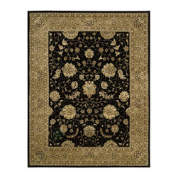Nourison - Nourison Nourison 2000 Black Area Rug - Redefine luxury with Nourisons most popular handmade signature collection featuring Persian and European traditional designs. The dense pile splendid patterns deeply compelling textures and intriguing aesthetics are certain to command immediate attention in any setting.