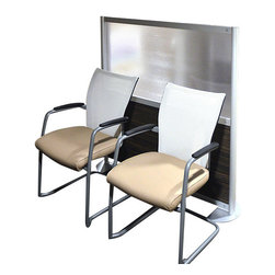 "LOFTwall - LOFTwall Low Height Room Partition LW45LH - The LOFTwall Low Height Room Partition is 53"" tall and one wide panel width. Perfect for office privacy, this room divider is available in a variety of mix-and-match panel colors. Made from aluminum, with 12"" feet for stability."