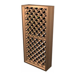 http://www.winecellarinnovations.com/res_kits_designer_idb.htm - Individual bottle wine storage is our most popular style of wine rack. Now with this enhanced design, each wine bottle is stored in an individual cradle, yet at a diagonal pattern, creating a very dramatic storage display for your prized possessions. The Individual Diamond Bin wooden wine rack stores up to 90 wine bottles. Product requires assembly.