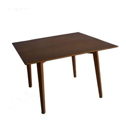 "Pre-owned Early Jens Risom Occasional Table - A 1940s Jens Risom table in a beautiful blonde finish. This sweetheart of a table is a wonderful combination of form and function! Jens Risom was one of the first designers to work for the legendary Knoll company. With a career spanning 70 years, it is no doubt that many still believe the phrase, ""The answer is Risom!""     This occasional table has some marks, dings and dents, as shown, but overall is in good vintage condition."
