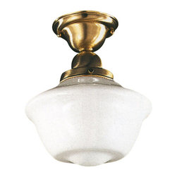 Hudson Valley Lighting - Hudson Valley Lighting Edison Semi Flush - Free shipping. The Hudson Valley Lighting Edison Collection Semi Flush features 1-75 Watt Medium Standard A19 bulb. Shown in Satin Brass finish.