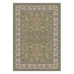 "Dynamic - Ancient Garden 31"" Runner Traditional Stair Runner - Stair & Hallway Runners Are Sold By The Linear Foot!  Quantity 1 = 1 Linear Ft  All Sides Are Finished   Anc't Gard  57078-4444 31 Dynamic Rugs"