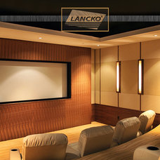 Modern Home Theater by Lancko Group Inc.