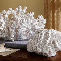 Ocean Coastal Beach Coral Sculpture - The textures on these faux coral pieces make them really stand out.