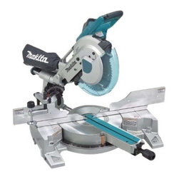 "Makita - Dual Slide Compound Miter Saw - Largest crown molding cutting capacity in its class, compact design with a 4-steel rail sliding system further increases rigidity to produce superior cuts, exclusive 6 linear ball bearings deliver smooth, solid, and adjustment-free 'dead-on' accurate cuts  , increased capacity for up to 6-5/8"" crown molding (vertically nested), 4-3/4"" baseboard (vertical), and 12"" crosscuts at 90 degrees. Built-in laser indicates line-of-cut. Specs: max cutting capacity: 90 degrees-2-13/16""x 12"", 45 degrees(L/R)-2-13/16""x8-  1/2"", no load RPM is 3,200, arbor 5/8"", size (LxWxH) 28-1/8""x25-1/4""x26-1/2"", weighs 53.3lbs. Includes: 10""x 5/8"" 60T TCT saw blade, vertical vise, dust bag, triangular rule, socket wrench #13, hex wrench.      This item cannot be shipped to APO/FPO addresses.  Please accept our apologies"