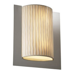 Justice Design Group LLC - Justice Design Group PNA-5562 - Framed Rectangle 3-Sided Wall Sconce (ADA) - Pol - Shop for Wall Mounted Lighting and Sconces from Hayneedle.com! About Justice DesignEndless inimitable lighting that's what Justice Design deals in. More than 200 different shapes. More than 35 different finishes. That's a huge amount of customization -- right at your fingertips. Speaking of fingertips each fixture is painstakingly crafted by skilled artisans by hand. Whether you're looking for indoor or outdoor lighting residential or commercial Justice Design is sure to have just the right fixture to match your needs and personality.