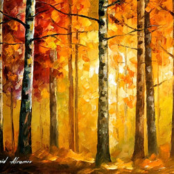 Leonid Afremov - Hidden Trees - Oil Painting On Canvas By Leonid Afremov - Oil painting on canvas