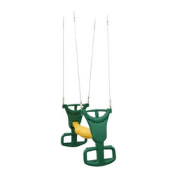 Big Backyard - Big Backyard Glider for Swing Set Multicolor - A24510 - Shop for Swings Slides and Gyms from Hayneedle.com! Add to the joys of summertime with the Big Backyard Glider for Swing Sets. This double seat glider enhances fun for kids. It's made of durable colorful plastic and comes with a rope and chain to attach the glider to the swing set. The glider accommodates up to two riders at a time and can be attached to single or double beam play sets.