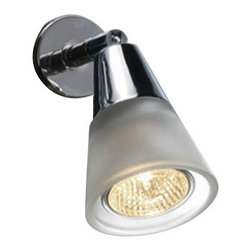"""Decor Walther - Decor Walther Spot 300 Mirror Lamp - The Spot 300 Mirror Lamp has been designed and made by Decor Walther.  The mirror lamp spot 300 by Decor Walther convince with a modern,  reduced design. The lamps have the simple basic form of a cone. They  consist of a polished or matte chrome structure and a satined glass  shade, that evenly diffuses the light. spot 100 is clipped to the top of  the mirror while Spot 300 requires drilling installation.  Product Details:  The Spot 300 Mirror Lamp has been designed and made by Decor Walther.  The mirror lamp spot 300 by Decor Walther convince with a modern,  reduced design. The lamps have the simple basic form of a cone. They  consist of a polished or matte chrome structure and a satined glass  shade, that evenly diffuses the light. spot 100 is clipped to the top of  the mirror while Spot 300 requires drilling installation. Details:                                     Manufacturer:                                      Decor Walther                                                                  Designer:                                     In House Design                                                                  Made in:                                     Germany                                                                  Dimensions:                                      Width: 2.76"""" (7 cm) X Depth: 5.12"""" (13 cm) X Height: 4.92"""" (12.5 cm)                                                                  Light bulb:                                      1 x GU10 Max 50W                                                                   Material:                                      Metal"""