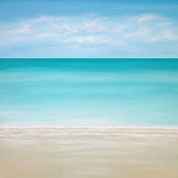 Antigua  (Original) By Chris Maestri - This seascape painting was done in acrylic on canvas in 2014.