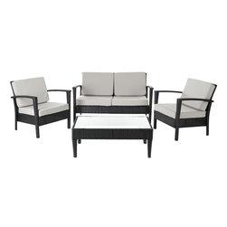 Safavieh - Hamish 4-Piece Set, Black/Grey, 36.2 X 18.1 X 18.5 - Hamish 4-Piece Set. Coffee Table 36.2 X 18.1 X 18.5