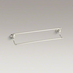 """KOHLER - KOHLER Bancroft(R) 24"""" double towel bar - Bancroft accessories capture the elegance of early 1900s American design with their traditional and enduring style. This double towel bar provides plenty of space for your towels while lending a classic touch to the bath or powder room."""