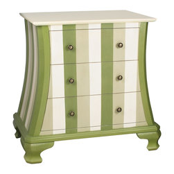 Sterling Industries - Sterling Industries Green Chevron Chest (84-9943) - Sterling Industries Green Chevron Chest (84-9943)