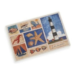 Avanti - Avanti Beach Collage Laminated Placemat - A collection of coastal scenes and soothing colors create a welcome addition to your table. Laminated placemat is easy to clean.
