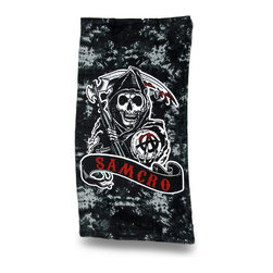 Zeckos - Sons of Anarchy Samcro Reaper Beach Towel 30 X 60 in. - Show your support for your favorite show and favorite character with this officially licensed beach towel ready for the beach or pool Featuring the `Anarchist Reaper`, this Samcro beach towel is an essential addition to the collection of any `Sons of Anarchy' fans. Made from 100% cotton, it measures 30 inches wide by 60 inches long (76 X 152 cm), and is recommended to machine wash in cold water, and tumble dry low. You can take it on vacation, a picnic in the park, use it at home or hang it on the wall This awesome towel makes a great gift any follower of `Sons of Anarchy` is sure to enjoy