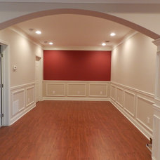 Traditional Basement by Black Rock Interiors