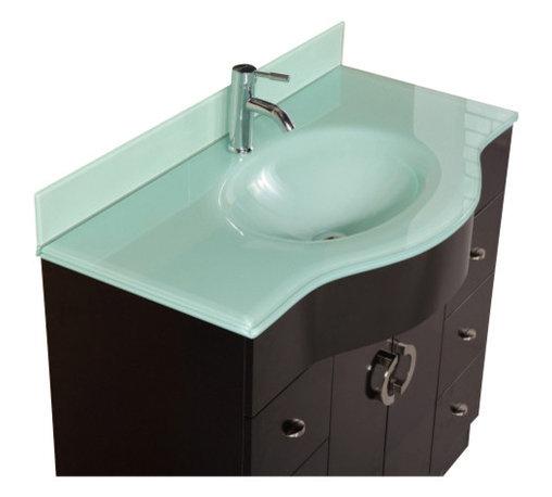 """Design Element - Design Element DEC061 Aria 40"""" Single Sink Vanity Set in Espresso - Design Element DEC061 Aria 40"""" Single Sink Vanity Set in Espresso"""