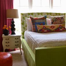 Eclectic Bedroom by Lisa Britt Designs