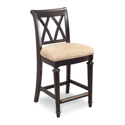 Hammary - Hammary Camden-Dark Desk Chair w/ 25H Seat in Black - - 919-690.  Product features: Belongs to Camden-Dark Collection by Hammary; Seat H25; Cross Back; Seat Upholstered in Beige; Packed 1 per Carton; Black finish. Product includes: Chair (1). Desk Chair w/ 25H Seat in Black belongs to Camden-Dark Collection by Hammary.