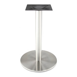 RFL 450 Stainless Steel Table Bases - Our high quality, stainless steel disk style table base from the RFL series is perfect for indoor and outdoor use in any dining, restaurant, home or commercial environment where you need a strong base with an elegant, modern style.