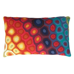 Pop Swirls Pillow - When I look at this pillow, I imagine late afternoons lounging on comfortable chairs, sipping on a cold drink and relaxing with a good decor magazine.