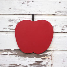 Eclectic Artwork Large Oversize Apple Wood Wall Sign by Small Town Myrtle Brown