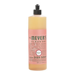 Mrs. Meyers - Mrs. Meyers Clean Day Biodegradable Liquid Dish Soap, Pack of 6, Geranium - Mrs. Meyers Clean Day Liquid Dishwashing Soap in Lemon Verbena is a fast and effective degreaser for hand washing dishes. The formula is rich, thick, and extra concentrated and made from Soap Bark Extract and other natural ingredients that can be found in the garden. Its' streak free finish will leave you quite pleased and fill your kitchen with a lovely aroma.