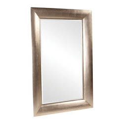 Howard Elliott - Howard Elliott Barron Silver Leaf Mirror - This oversized mirror features clean lines and is finished in a warm bright silver leaf.