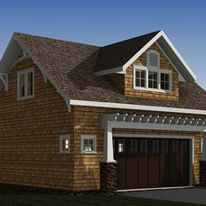 Bungalow Garage with Apartment   The Red Cottage Floor Plans, Home Designs, Comm