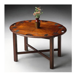 Butler - Butler Table - Plantation Cherry Stained Finish - Selected solid woods, wood products and choice cherry veneers