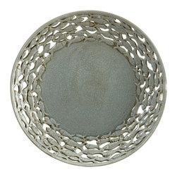 """IMAX - CKI Cutwork Fish Charger - Cleverly hidden in the cutwork of this charger by designer Carolyn Kinder, the school of fish are an artistic use negative space to reveal the fish forms. Item Dimensions: (3.00""""w x 18.50""""d)"""