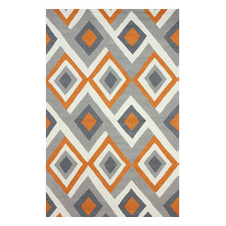 nuLOOM - Contemporary 5' x 8' Orange Hand Hooked Area Rug BC62 - Made from the finest materials in the world and with the uttermost care, our rugs are a great addition to your home.