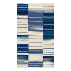 "Loloi Rugs - Loloi Rugs Rio Collection - Blue, 5' x 7'-6"" - Looking for a rug that combines the best of both style and durability? Then consider a Rio. Hand woven in India of 100% New Zealand wool, we have re-imagined typical flat weaves by way of contemporary design. Each Rio also features nuanced variations in color throughout the rug for added beauty. Best of all, these rugs are durable, reversible, and crafted to withstand plenty of foot traffic."
